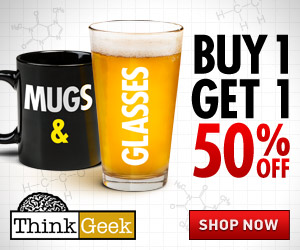 Mugs and Glasses Buy 1 Get 1 50% Off