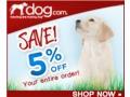 5% off any size order at dog.com