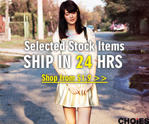 Choies Selected Stock Items, Shiped in 24 HRS!