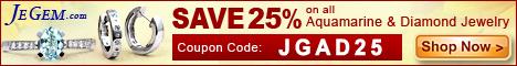 Save 25% on all Aquamarine & Diamond Jewelry
