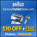 $10 Off + FREE Shipping on Braun Shavers, Toothbru