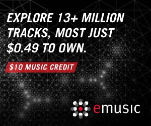 13 Million Tracks $10 MUSIC CREDIT