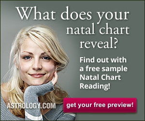 Try a free sample Natal Chart Reading from Astrology.com!