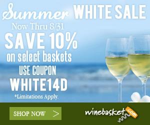 Save 10% on White Wine Gift Baskets at winebasket.com