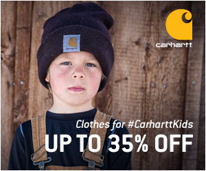 Save up to 35% off kid's winter clothing at Carhartt