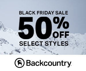 Save up to 50% Off Select Gear & Apparel This Black Friday at Backcountry.com