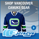 Get Your Official Vancouver Canucks Gear at IceJerseys.com! SAVE $10 off all purchases over $100 with Coupon Code 10OFF100