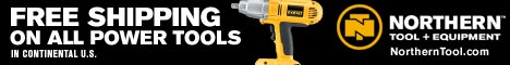 Free Shipping On All Power Tools at Northern Tool