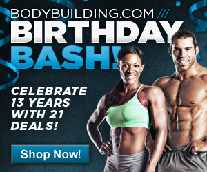 Happy Birthday Bodybuilding.com 300x250