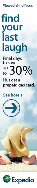 Expedia Summer Sale! Get a prepaid gas card, worth up to $100!