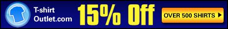 15% off T-shirtoutlet T-shirts
