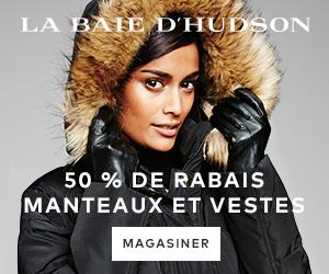 (12/10-1/31) Jusqu'à 50 % de rabais sur des manteaux et vestes à labaie.com