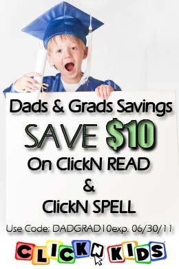 Save $10 at ClickN KIDS Use coupon code: DADGRAD10