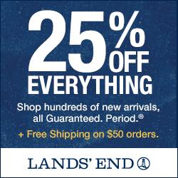 Lands' End 25% off All