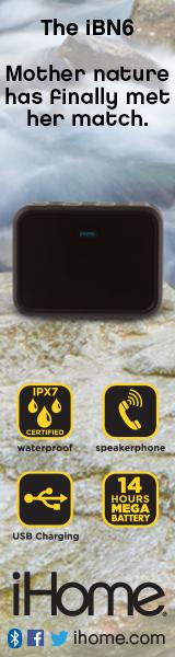 160x600Static iBN6 Rugged Portable Waterproof Bluetooth Stereo Speaker