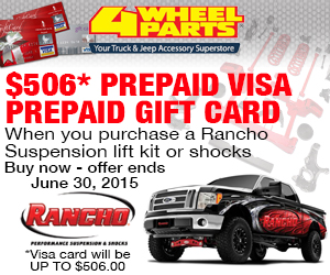 $506 Prepaid Visa Gift Card With Purchase Of Rancho Suspension System Or Shocks