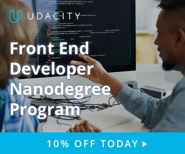 Join udacity Front End Developer program today!