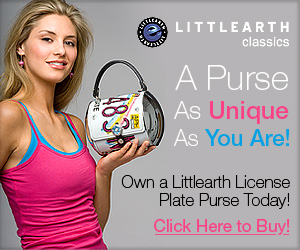 Own a Classic Littlearth License Plate Purse Today