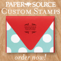 Custom Stamps at Paper Source