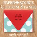Custom Stamps at Paper Source