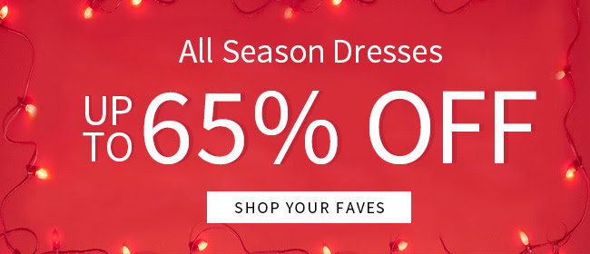 All Season Dresses: Up to 65% OFF