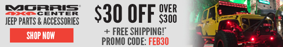Get $30 off orders over $300 with code FEB30 only at Morris4x4!