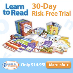30-day risk-free trial of Hooked On Phonics for only $14.95.