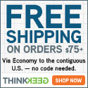 Free Shipping on orders over 75 at Think Geek