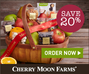 20% off Holiday Treats & Gift Baskets at Cherry Moon Farms (min $39)(300x250)