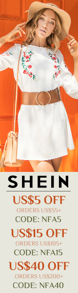 Enjoy $40 off orders $200+ with coupon code NFA40 at SheIn.com! Ends 5/8