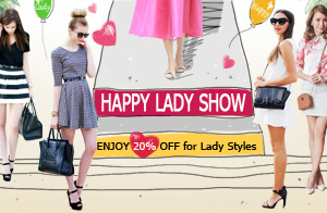 Women's Day Sale 20% off, free shipping