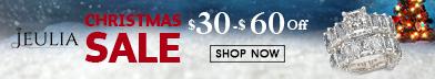 Christmas Sale, $30-$60 Off Jeulia Rings
