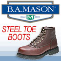 B.A. Mason steel-toed shoes
