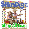 Shop luau decorations and favors.