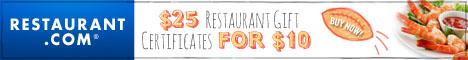 Restaurant.com Ponte Vedra Beach Restaurant Weekly Promo Offer