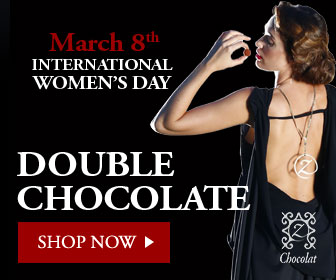 336x280 Happy Valentine's Day with Chocolate Hearts