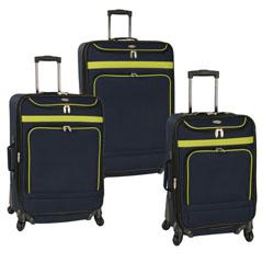 Travel Gear Spectrum II 3 Piece Spinner Luggage Set