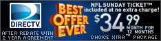 NFL Sunday Ticket -Now included at no extra charge