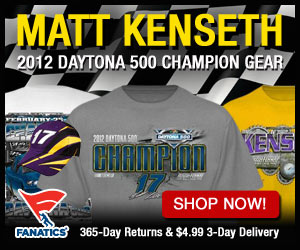 Get your Matt Kenseth 2012 Daytona 500 Winner Gear