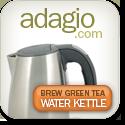 Green tea kettle from Adagio Teas