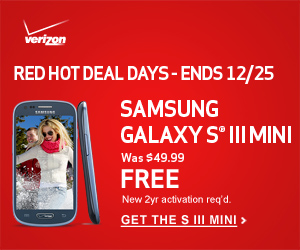 Free Verizon Wireless Samsung Galaxy S III Mini