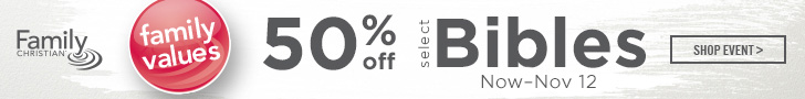 50% off Select Bibles
