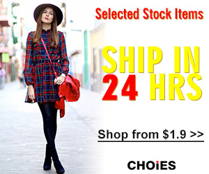 Choies Selected Items Ship Out in 24 Hours, Free Shipping