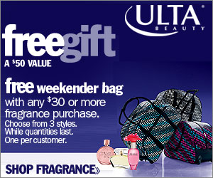 FREE Gift!  Get a FREE Weekender Bag with any $30
