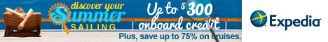 Expedia Summer Cruise Sale! Up to $300 Expedia Exclusive onboard credit + Save up to 75%!