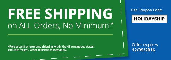 Free Shipping, No Minimum!