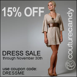 15% Off Dresses at CoutureCandy.com
