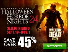Universal Orlando Halloween Horror Nights - Save Over 45% on Tickets!