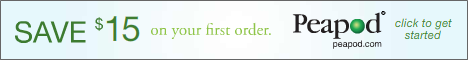 Reminder! $15 Off Your First Order from Peapod