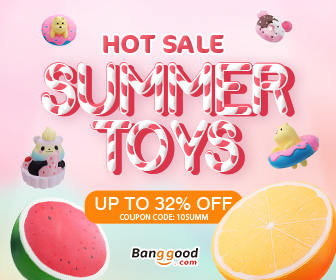 10% OFF Coupon for Hot Summer Toys & Squishy